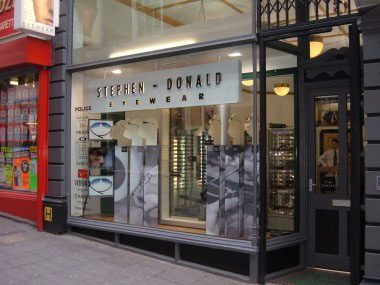 Stephen Donald Eyewear shop front