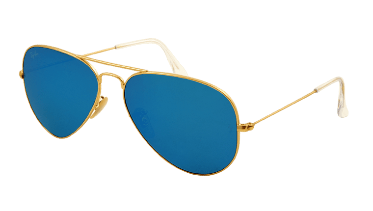 blue aviator ray bans  Ray-Ban RB 3025 112 17 Aviator Sunglasses