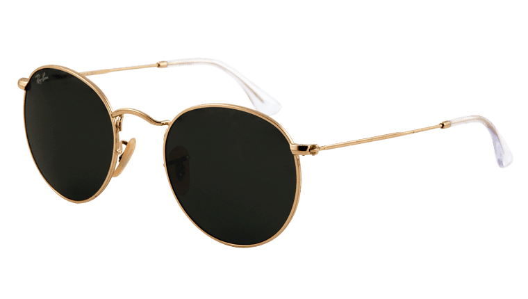 Ray Ban Rb 3447 001 Round Metal Sunglasses