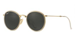 Ray Ban RB 3517 112/N5 Folding Round Metal Sunglasses-1