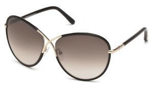 Tom Ford FT0344 01B Rosie Sunglasses-1