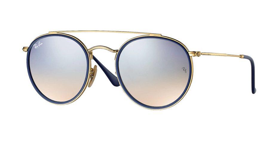 RB 3647 N 001 9U Round Double Bridge Sunglasses