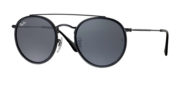 RB 3647 N 002 R5 Round Double Bridge Sunglasses