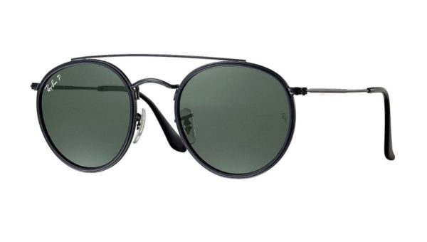 RB 3647 N 002 58 Round Double Bridge Sunglasses