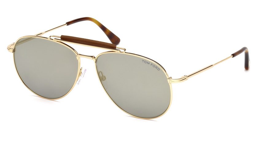 Tom Ford FT536 Sean 28C Gold Sunglasses