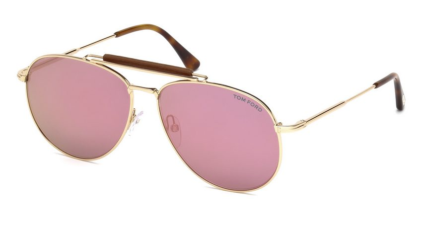 Tom Ford FT536 Sean 28Z Gold Sunglasses