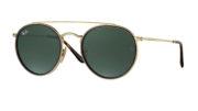 RB 3647 N 001 Round Double Bridge Sunglasses