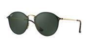 Ray Ban 3574N 001 71 Blaze Round Sunglasses