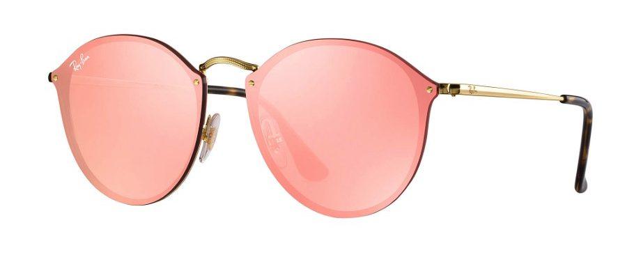 Ray Ban 3574N 001 E4 Blaze Round Sunglasses