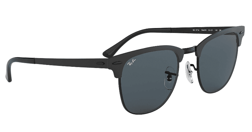 555fda7d9f5 Ray-Ban metal clubmaster frame. Black  blue classic.